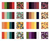 color palette set background. Harmony color combos spectrum