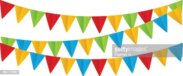 Color Paper Flags On White Vector Art Thinkstock
