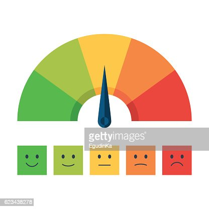 Color scale with arrow and emotions : Arte vectorial
