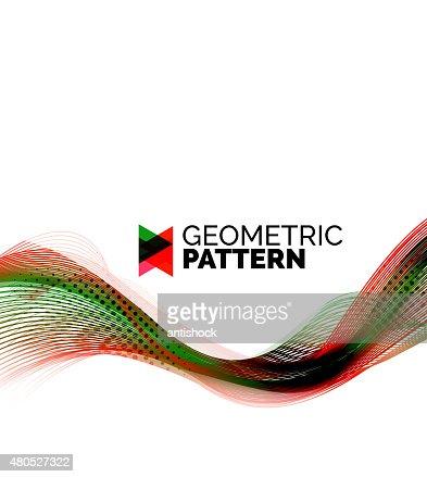 Color smoke wave on white - design element : Vector Art