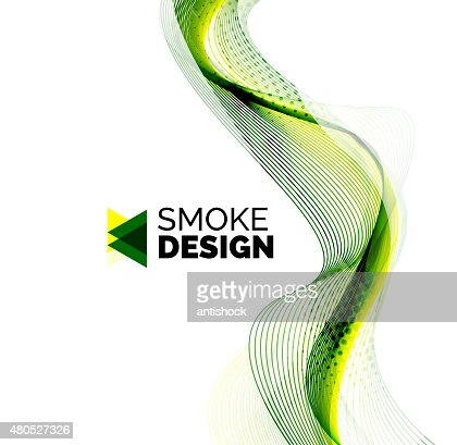 Color smoke wave on white - design element : Vector Art