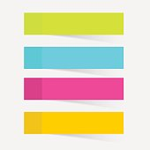 Color sticky notes set vector illustration