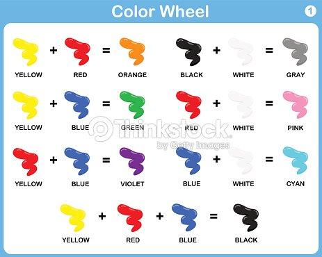 Rueda De Colores Hoja De Cálculo Para Niños Arte vectorial | Thinkstock
