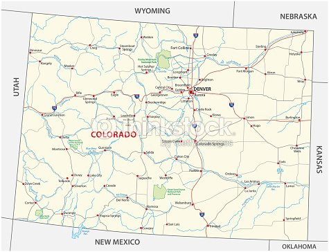 Colorado Road And National Park Map Vector Art | Thinkstock