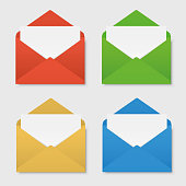 Colored envelopes set
