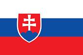 Colored flag of Slovakia