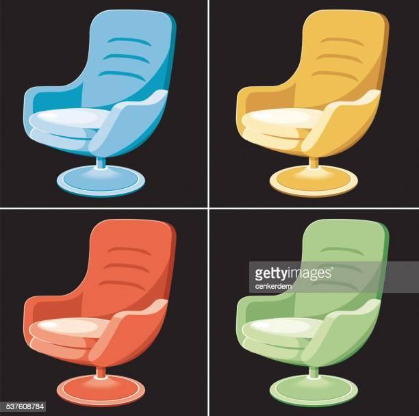 Colored seat set