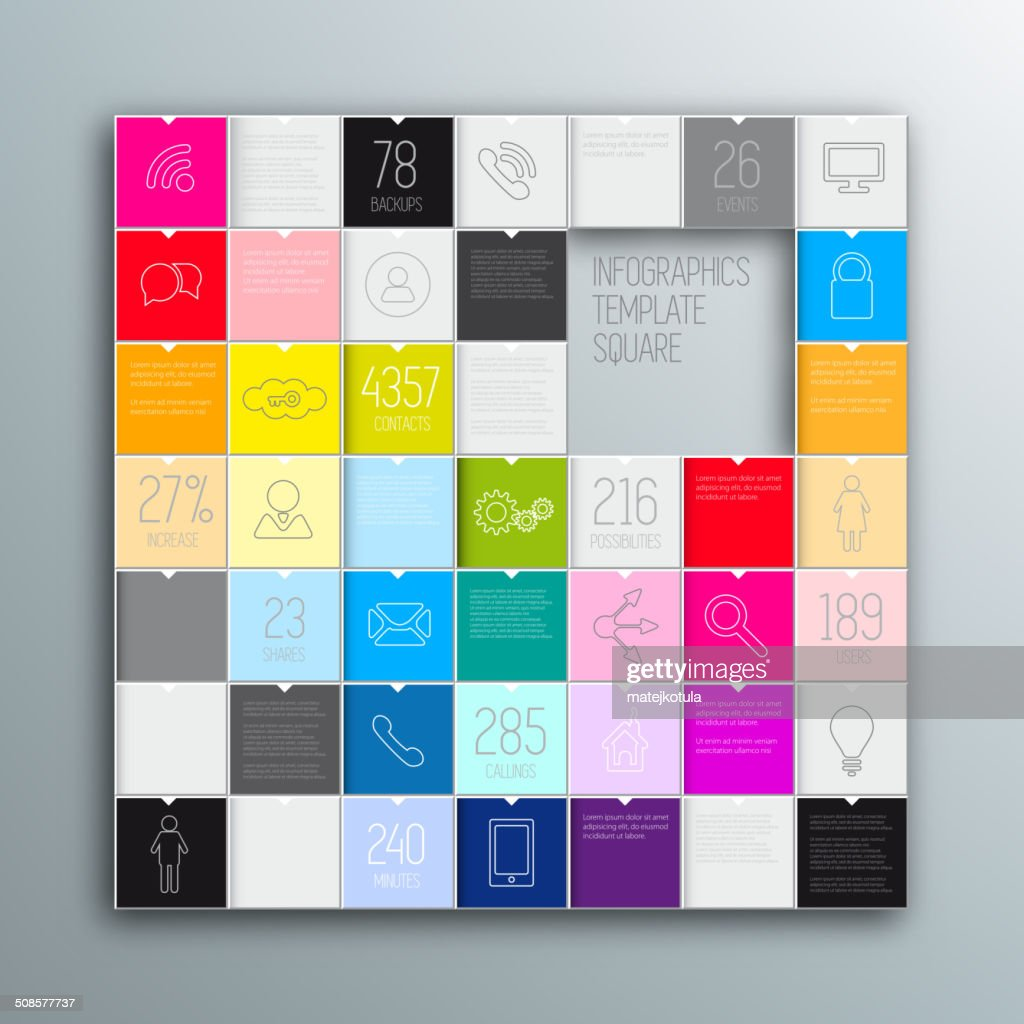 Colored squares background. Vector template : Vector Art