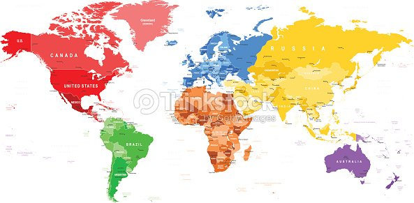 Colored world map borders countries and cities illustration vector colored world map borders countries and cities illustration gumiabroncs Choice Image