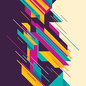 Colorful abstract composition. Vector illustration.