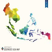 colorful abstract Southeast Asia mab, vector illustration, EPS10