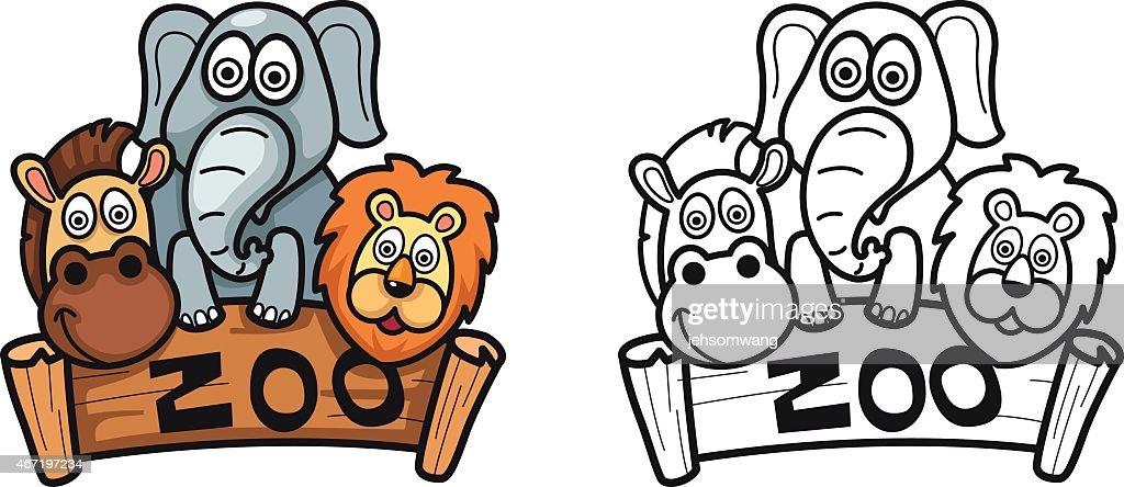 Imagenes Para Colorear Zoologico animales de zoologico para colorear ...