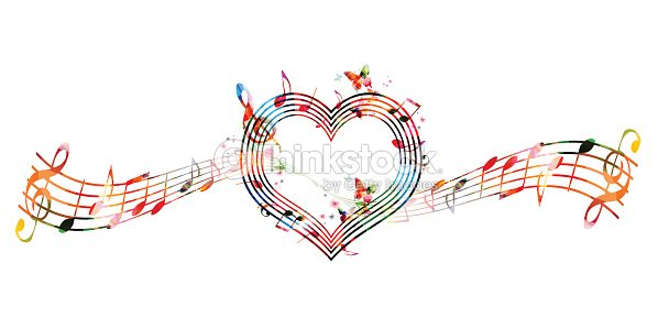 Colorful Background With Music Notes Stock Vector