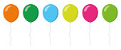 Colorful balloons collection. Flat style. Vector illustration