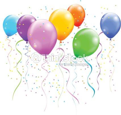 Ballons color s clipart vectoriel thinkstock - Clipart anniversaire gratuit ...