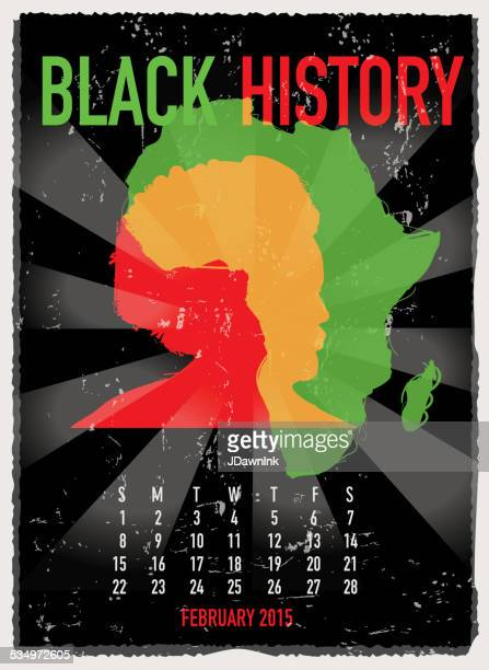 Colorful Black History month poster design with lot's of texture