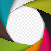 Colorful Camera Shutter Aperture. Vector background for your artwork.