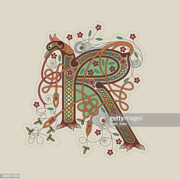 Celtic Animal Initials Letters X Y And Z Vector Art | Getty Images