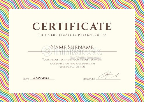 colorful certificate diploma template background design with wave