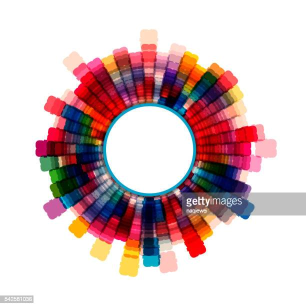 colorful check rotate pattern background