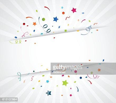 Coloré confetti sur fond blanc : Clipart vectoriel