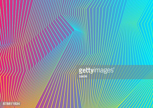 Colorful curved lines pattern design : stock vector
