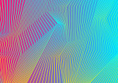 Colorful curved lines pattern design. Abstract futuristic vector background