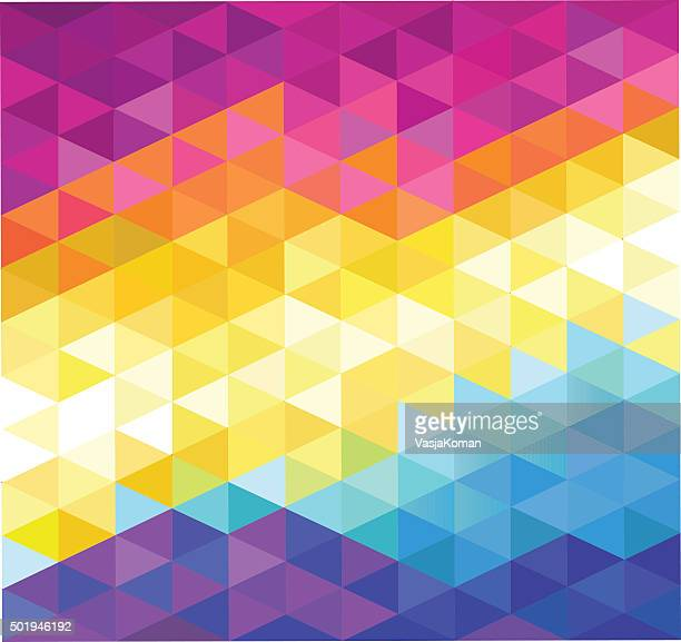 Colorful Diamonds Shaped Background