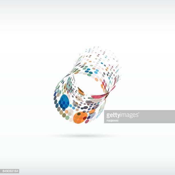 Bunte Punkte geometrische Muster Symbol