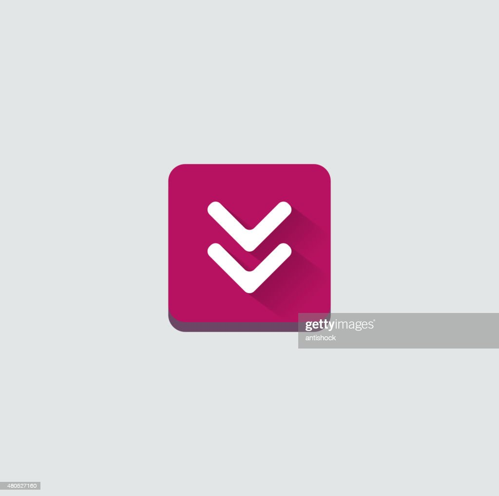 Colorful download web button. Modern flat design : Vector Art