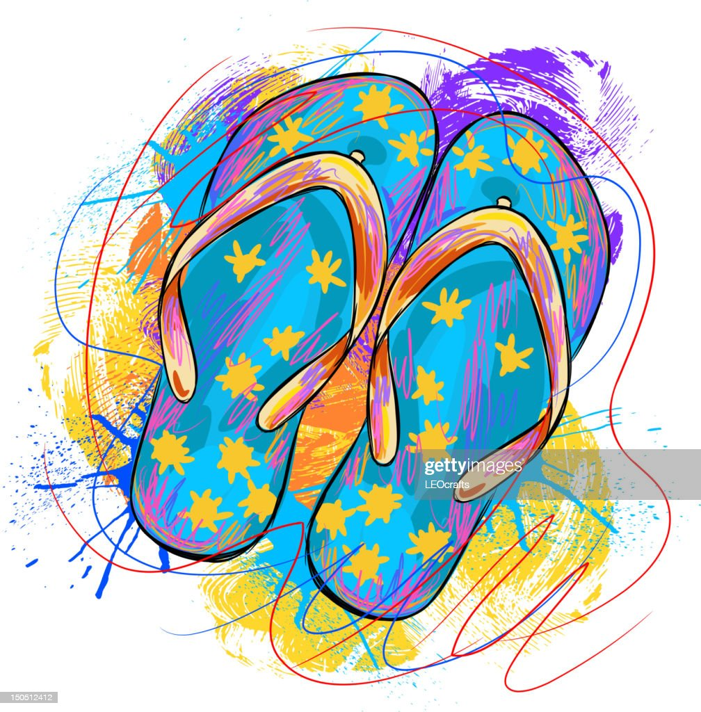 Colorful Flip  Flops : Vector Art