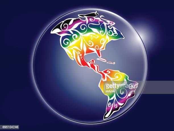 Kleurrijke wereld