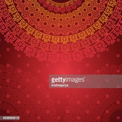 colorful henna mandala background design vector art