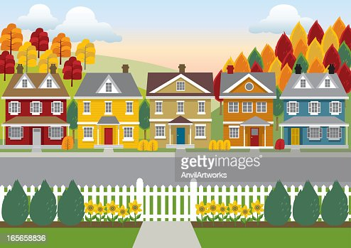 Suburban Stock Illustrations and Cartoons | Getty Images