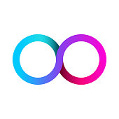 Colorful infinity business icon. Template for your design. Eternity concept. Vector illustration.