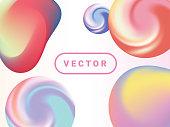 Liquid, Sphere, Color Gradient, Multi Colored