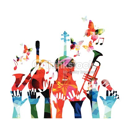Colorful Music Design Vector Art | Thinkstock