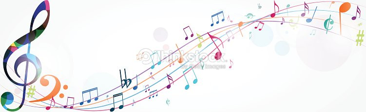 Colorful music notes background vector art thinkstock colorful music notes background vector art voltagebd Image collections