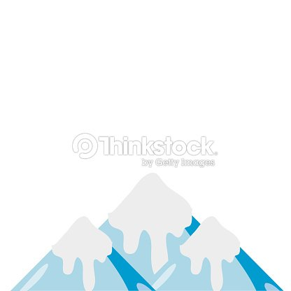 Colorful natural snowy mountain and cold weather
