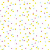 Colorful neon confetti seamless vector background for party cards. Holiday celebration multicolored dot pattern.