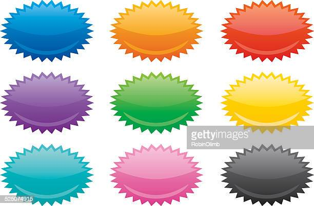 Colorful Oval Emblems