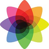 a great overlapping color shape for your business