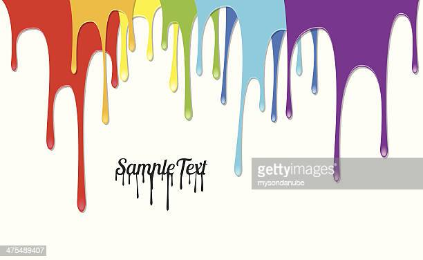 Colorful Paints Pouring - Vector Background