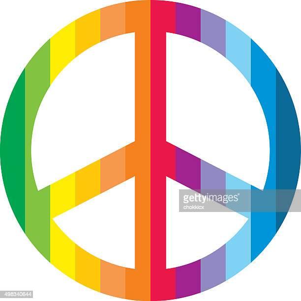 Symbole de paix coloré