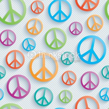 Colorful Peace Symbols Seamless Wallpaper Vector Art Thinkstock