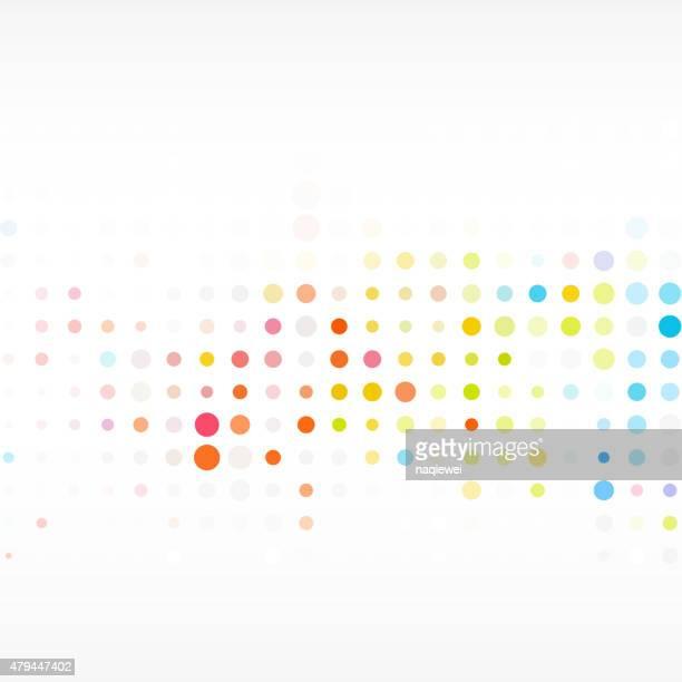 Farbenfrohes Pünktchenmuster Hintergrund