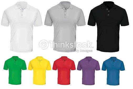 Plantilla colorida camiseta Polo   Arte vectorial a2ea4b2200999