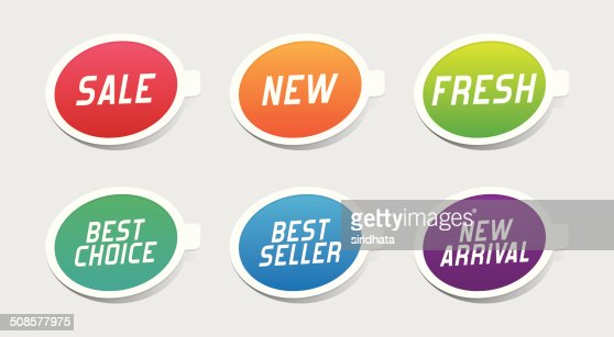 Colorful Promotional Labels : Vektorgrafik