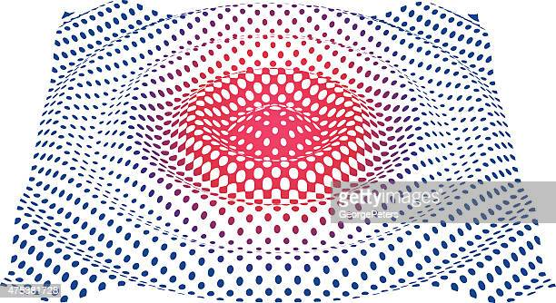 Colorful Ripples Effect. Line art. Halftone Pattern.