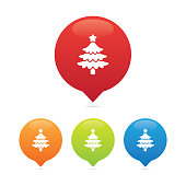 Colorful Round Christmas Tree Markers